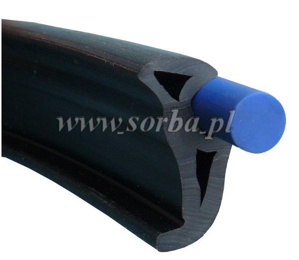 Inne rodzaje Odbojnica profil do łodzi WL02 listwa odboj. 39x21 - sorba.pl CR86